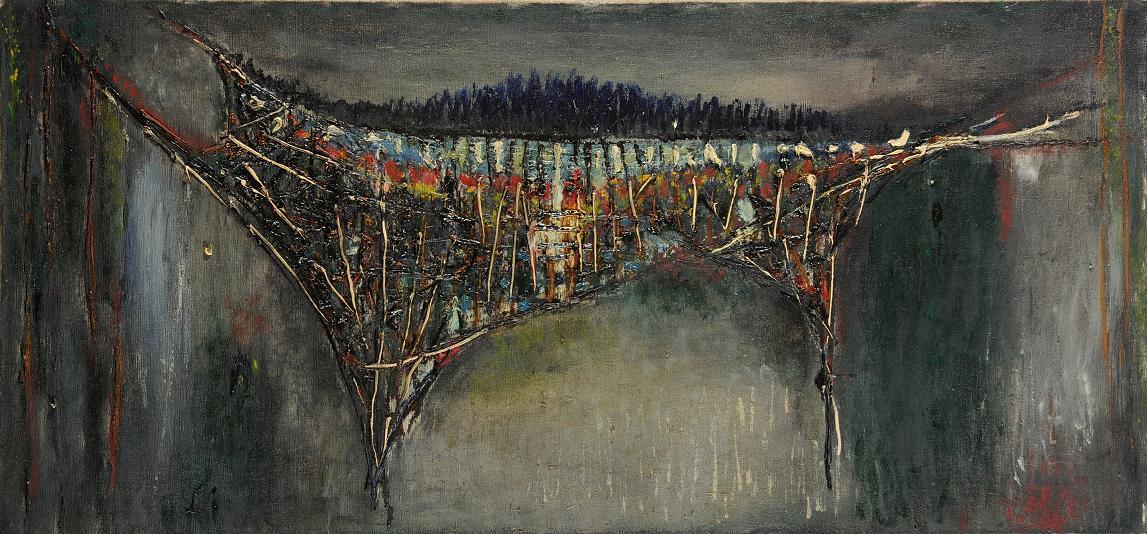 Rajmund Ziemski, Bez tytułu, olej na płótnie, 70 x 150 cm (źródło: materiały prasowe organizatora)