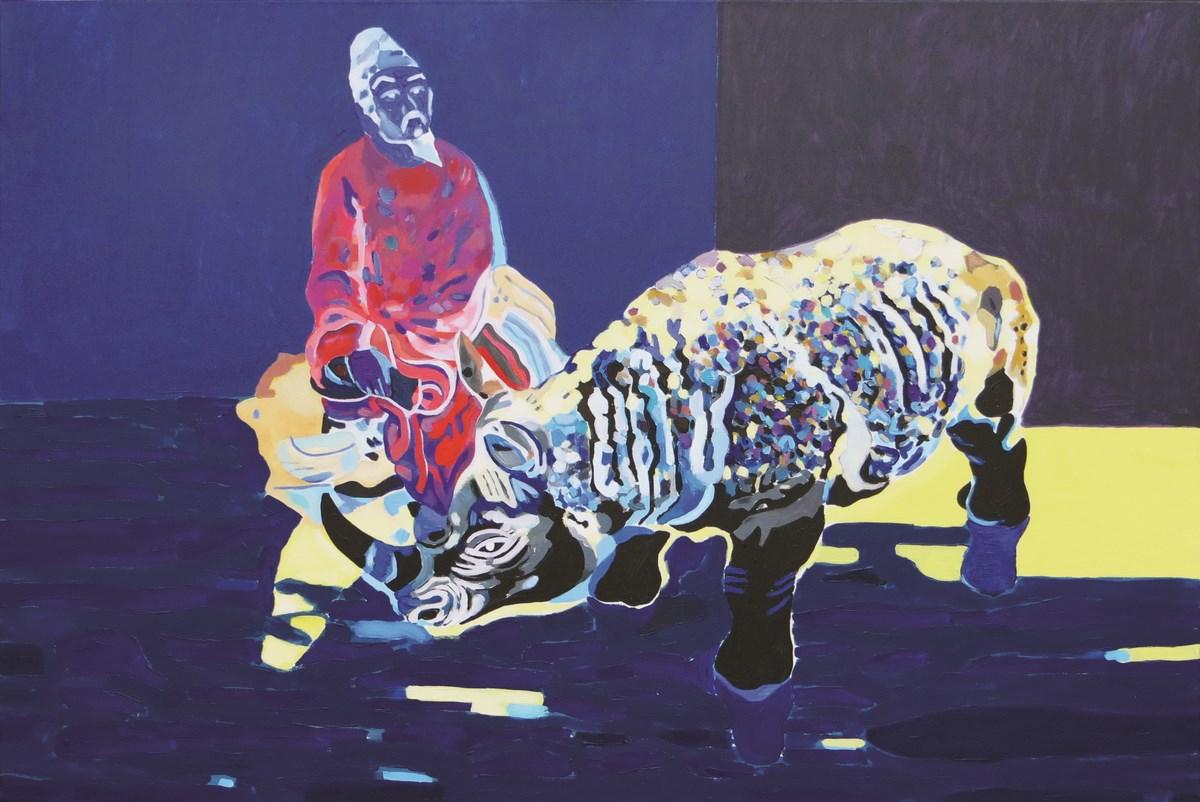 """Ryszard Grzyb, """"Melancholia wiecznie powracającej chwili"""", 2012, akryl, płótno, 100x150 cm (źródło: materiały prasowe organizatora)"""