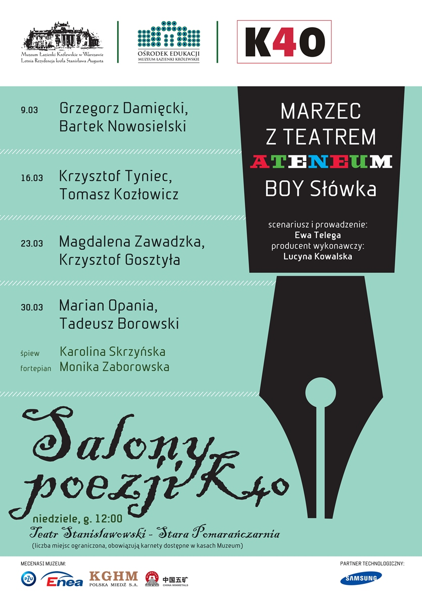"""""""Salony poezji K40"""" – plakat (źródło: materiały prasowe)"""