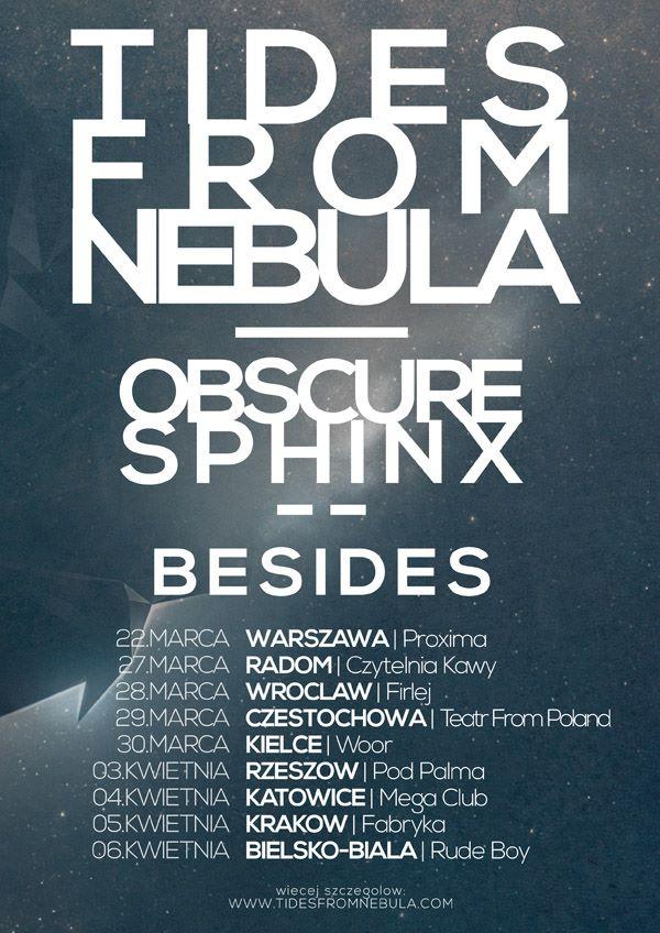 Tides From Nebula, plakat do trasy koncertowej (źródło: mat. prasowe)