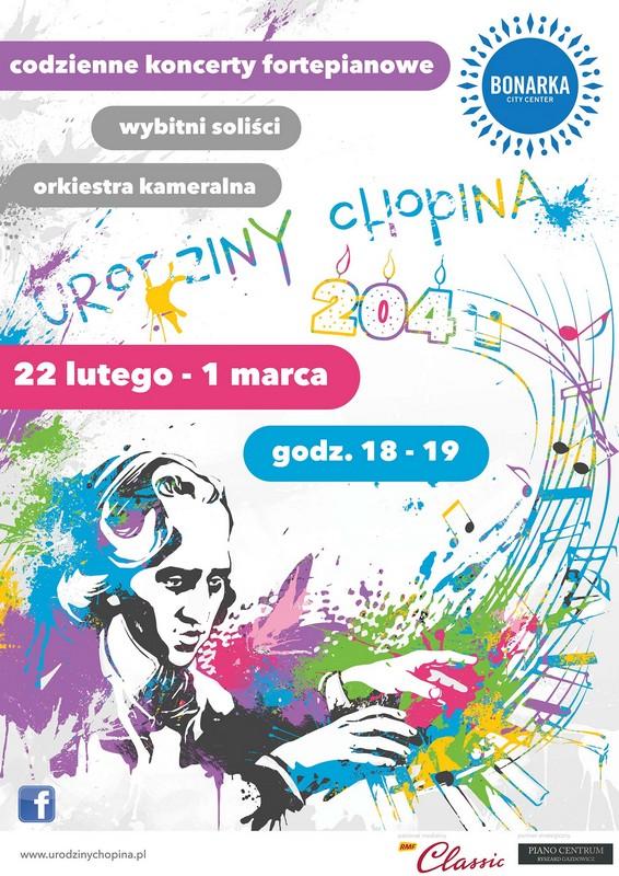 Urodziny Fryderyka Chopina, plakat (źródło: materiały prasowe)
