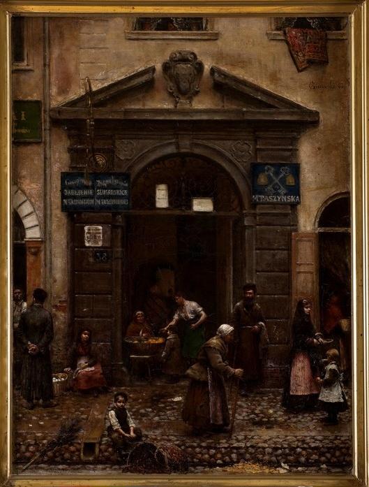 """Aleksander Gierymski, """"Brama na Starym Mieście w Warszawie"""", 1883, olej, płótno, 64 x 49 cm, Muzeum Sztuki w Łodzi (źródło: materiały prasowe organizatora)"""