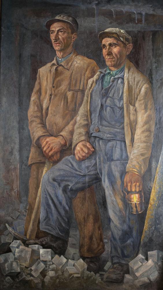 """Alfons Długosz, """"Dwóch górników wielickich"""", wł. Muzeum Żup Krakowskich w Wieliczce (źródło: materiały prasowe organizatora)"""