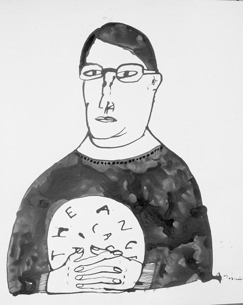 """Andrzej Klimczak-Dobrzaniecki, """"Autoportret"""" (źródło: materiały prasowe organizatora)"""