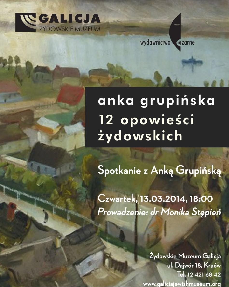 Spotkanie z Anką Grupińską – plakat (źródło: materiały prasowe)