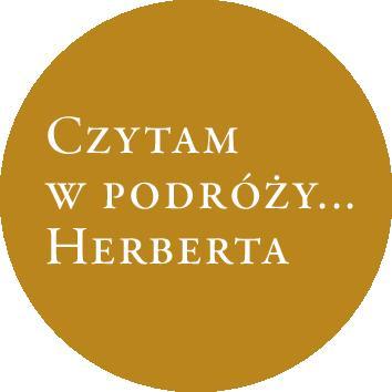 """Logo akcji """"Czytam w podróży… Herberta"""" (źródło: materiały prasowe organizatora)"""
