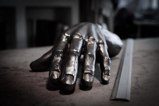 """Darri Lorenzen, """"Cast hand"""", 2013-2014, fot. Łukasz Szymczyk (źródło: materiały prasowe organizatora)"""