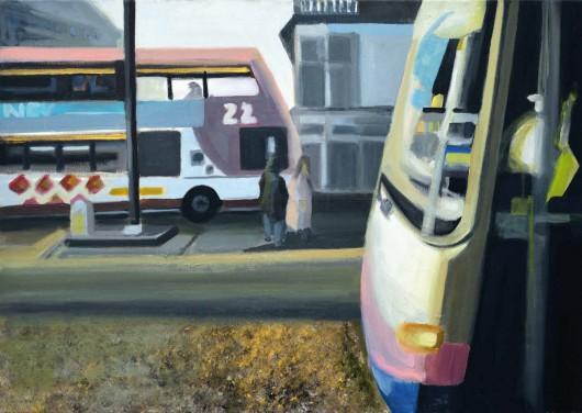 """Diana Batruch, """"Różowe autobusy"""", 2013 (źródło: materiały prasowe organizatora)"""