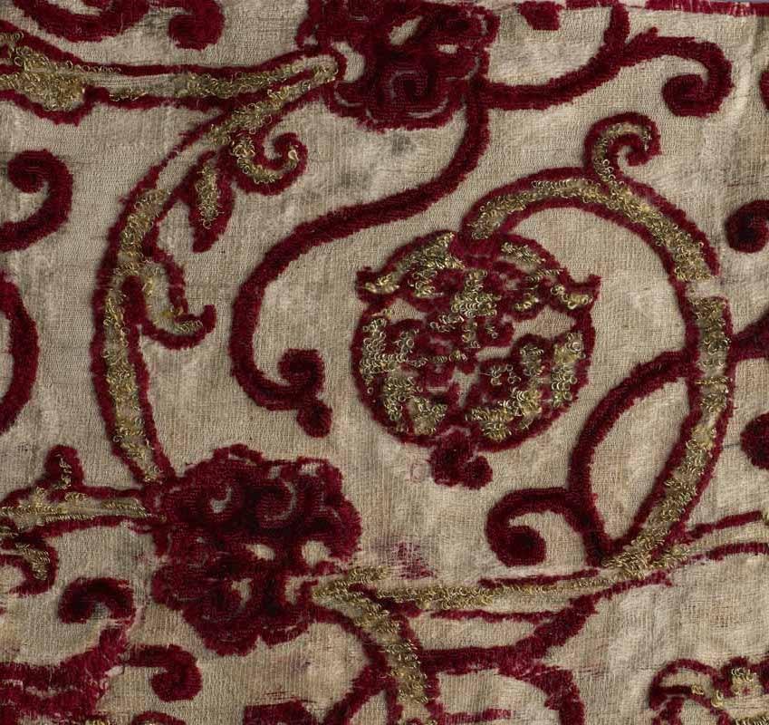 Fragment brokatu aksamitnego, Włochy, około poł. XVI wieku (źródło: materiały prasowe organizatora)
