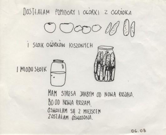 """Honorata Martin, """"Wyjście w Polskę"""", 2013, rysunek, dzięki uprzejmości galerii Raster (źródło: materiały prasowe organizatora)"""