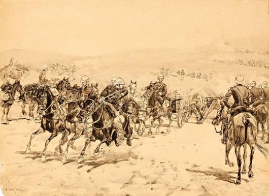 """Józef Chełmoński, """"Pole bitwy"""" (źródło: materiały prasowe organizatora)"""
