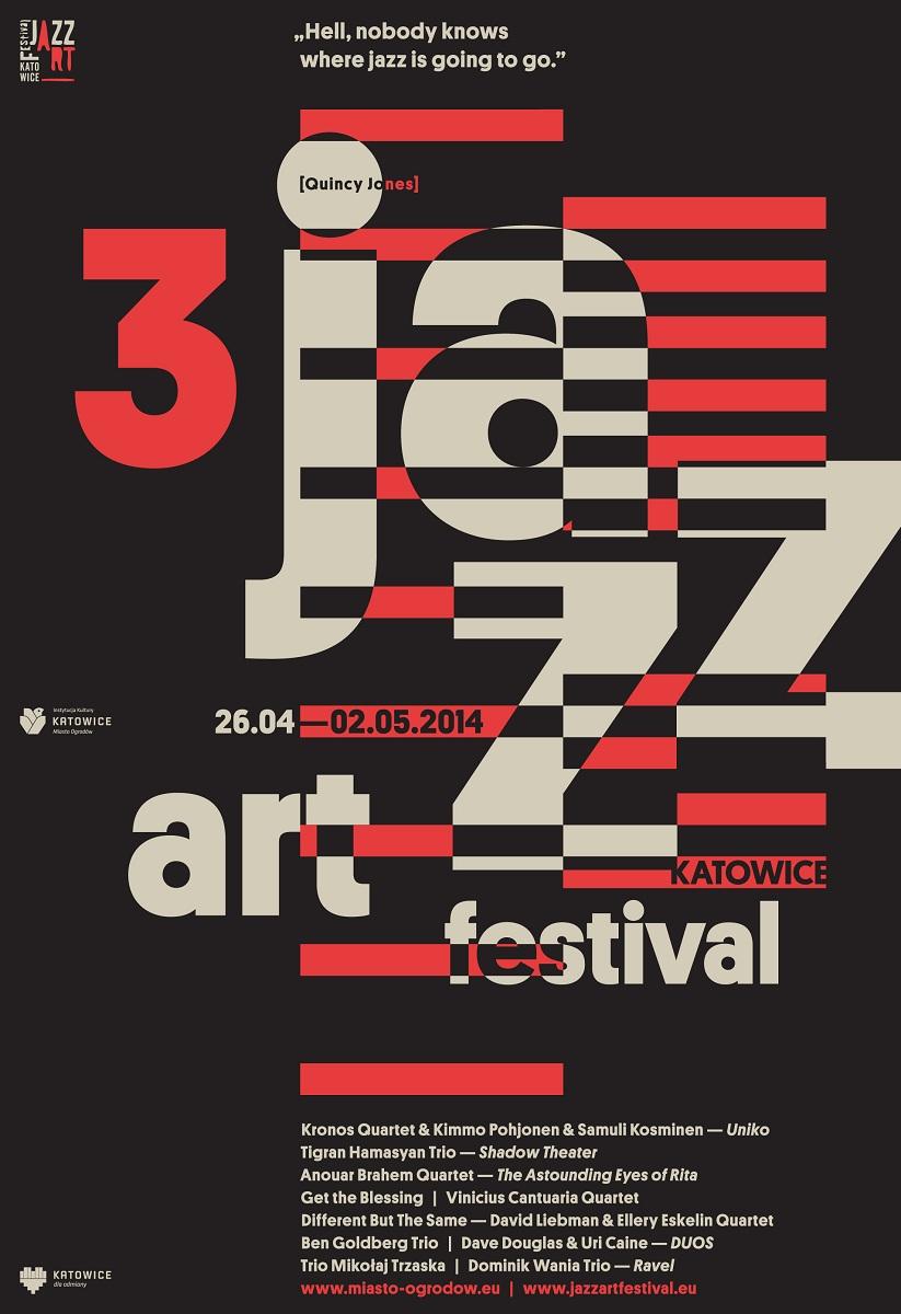 III Katowice JazzArt Festival, plakat (źródło: mat. prasowe)
