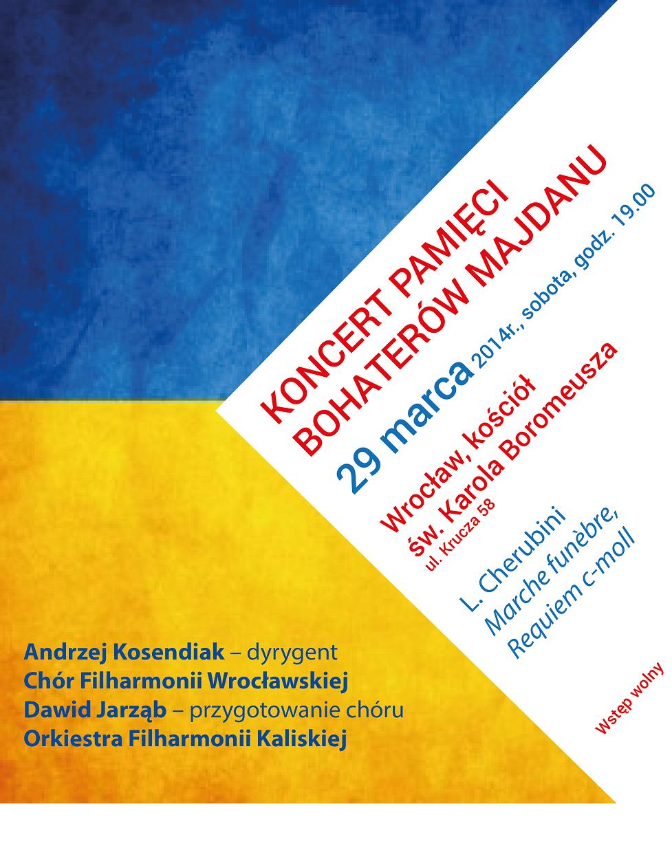 Koncert Pamięci Bohaterów Majdanu (źródła: materiały prasowe organizatora)