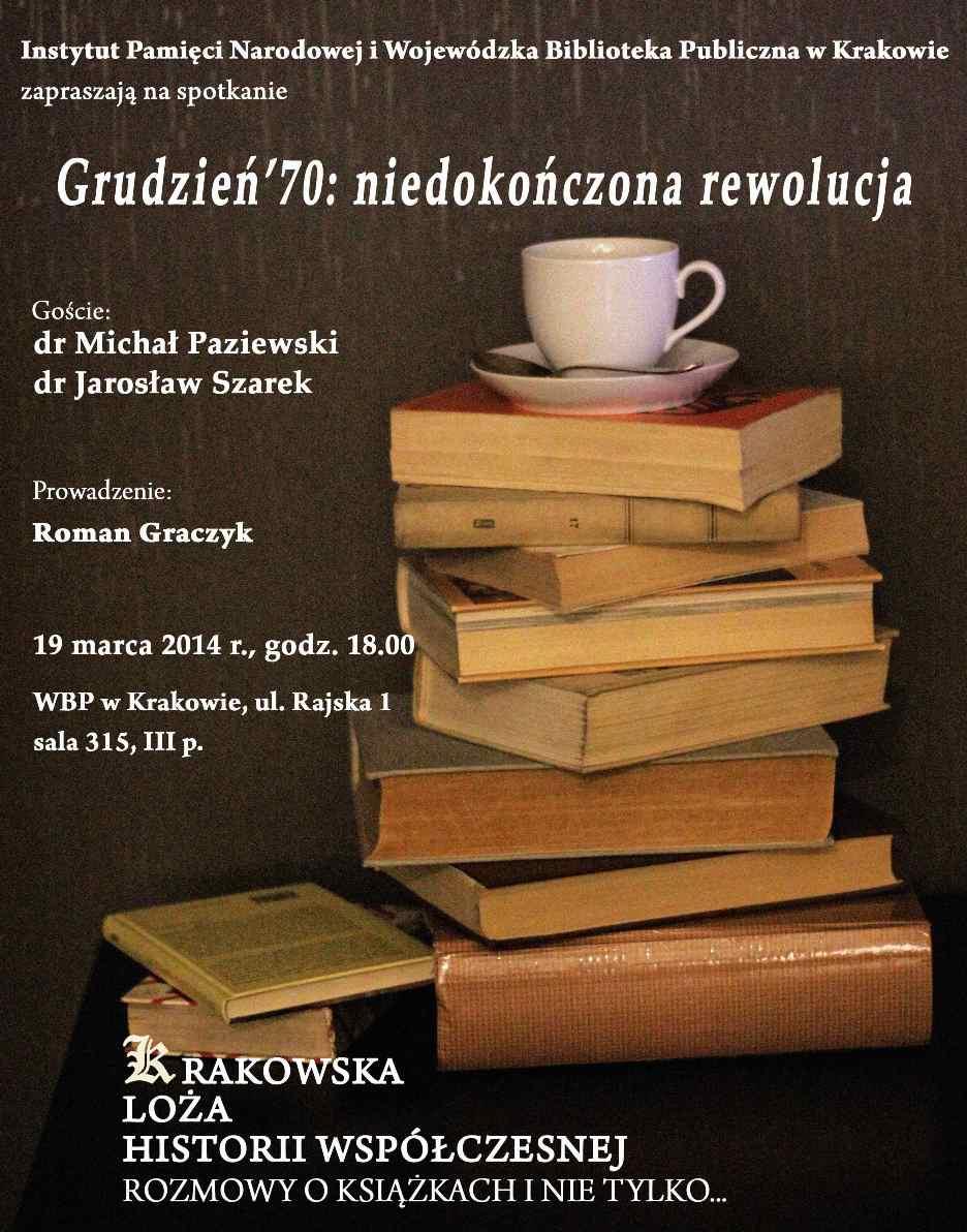 """""""Krakowska Loża Historii Współczesnej"""" – plakat (źródło: materiały prasowe)"""