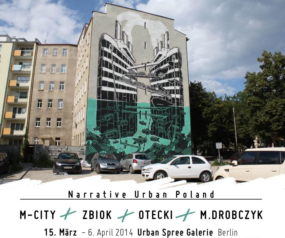 """Plakat wystawy """"Narrative Urban Poland"""" (źródło: materiały prasowe organizatora)"""