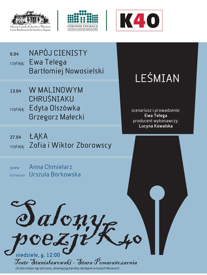 Salony poezji K40, plakat (źródło: materiały prasowe)