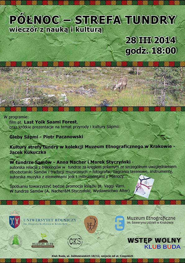 """Plakat """"Północ – Strefa Tundry"""" (źródło: materiały prasowe organizatora)"""