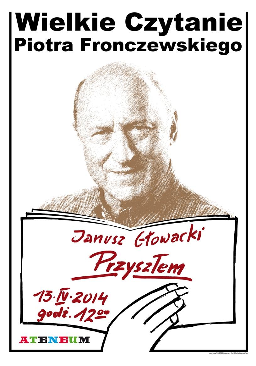"""""""Wielkie Czytanie Piotra Fronczewskiego"""" – plakat (źródło: materiały prasowe)"""