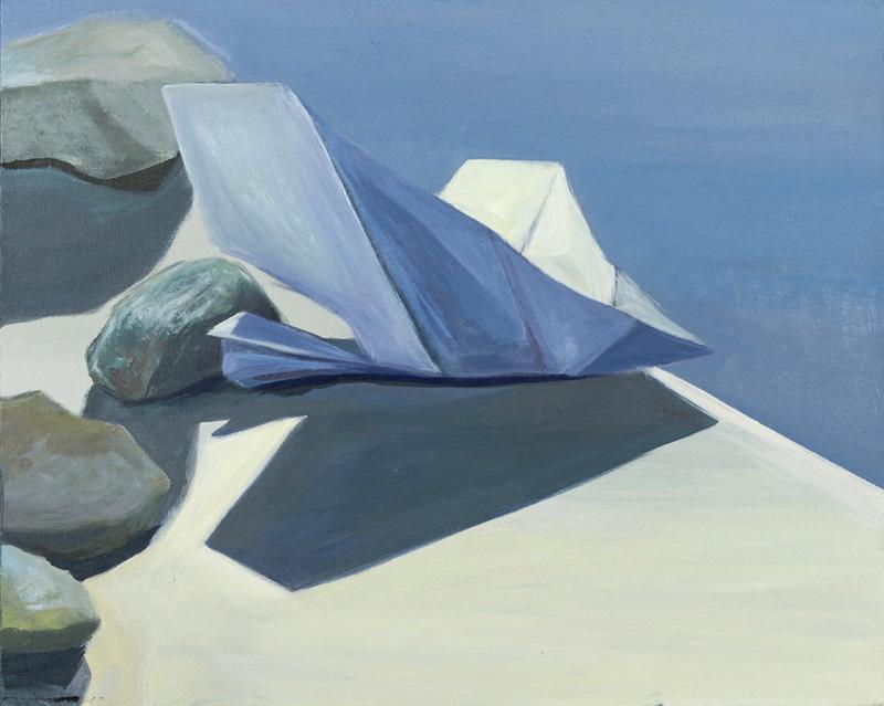 "Anna Magdalena Polońska, ""Brzeg"", akryl, płótno, 40x50 cm, 2012 (źródło: materiały prasowe organizatora)"