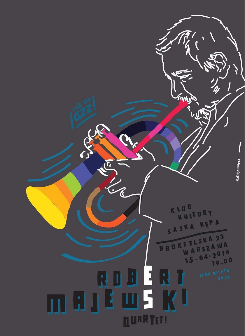 Cały ten Jazz! Koncert Robert Majewski Quartet, plakat (źródło: mat. prasowe)