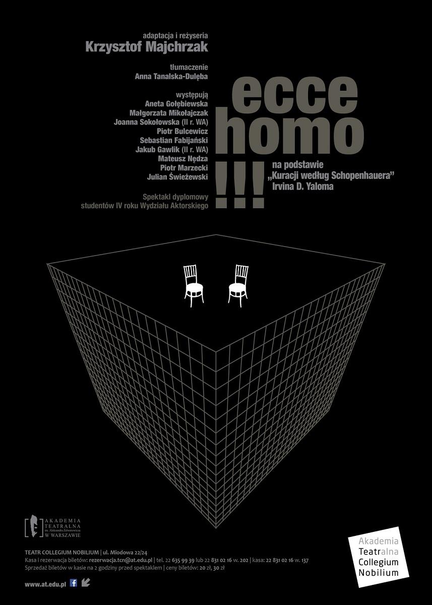 """""""Ecce Homo"""", plakat (źródło: mat. prasowe)"""