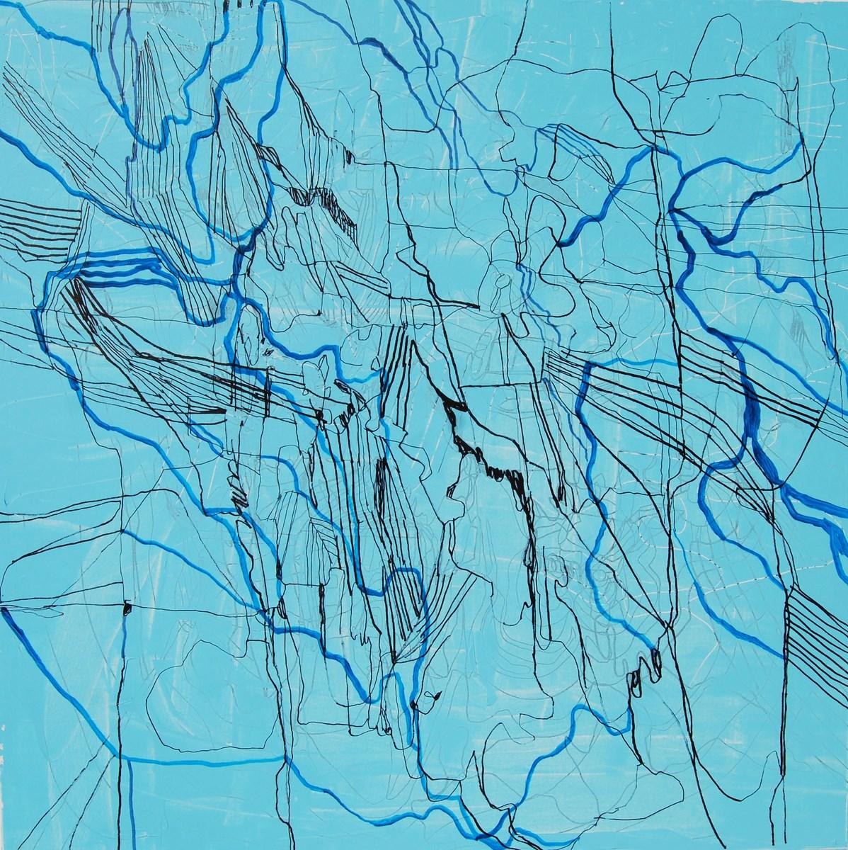 """Gossia Zielaskowska, """"Blue map"""", 2014, olej, płótno (źródło: materiały prasowe organizatora)"""