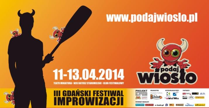 III Gdański Festiwal Impro Podaj Wiosło (źródło: mat. prasowe)