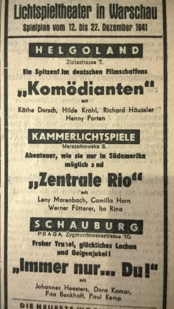 """""""Immer nur… Du!"""", plakat (źródło: materiały prasowe)"""