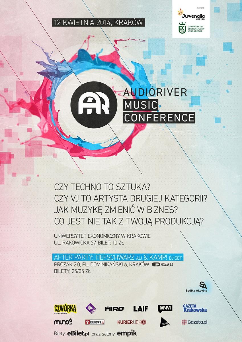 IV Konferencja Muzyczna Audioriver, plakat (źródło: materiały prasowe)