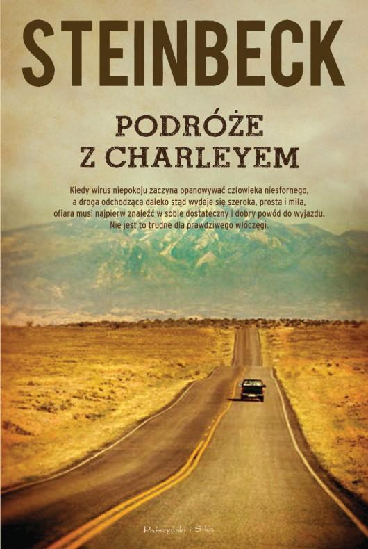 """John Steinbeck """"Podróże z Charleyem. W poszukiwaniu Ameryki"""" – okładka (źródło: materiały prasowe)"""