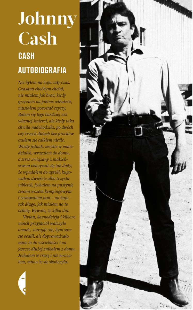 """Johnny Cash """"Cash. Autobiografia"""" – okładka (źródło: materiały prasowe)"""