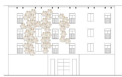 """Projekt doświetlania fasady budynków """"Reflex"""", autorka Joanna Piaścik (źródło: materiały prasowe)"""