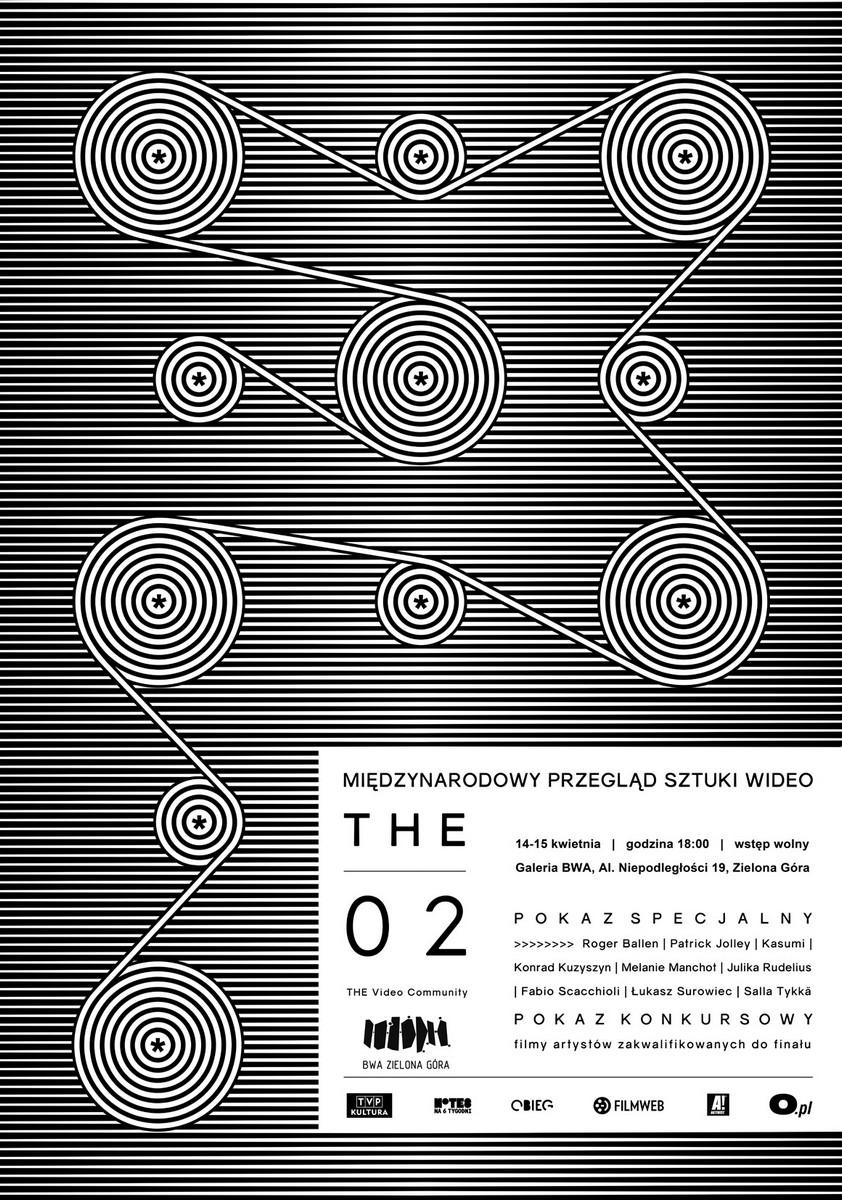 Międzynarodowy Przegląd Sztuki Wideo THE 02, plakat (źródło: materiały prasowe)