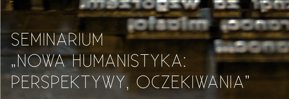 """""""Nowa humanistyka: perspektywy, oczekiwania"""" – logo (źródło: materiały prasowe)"""