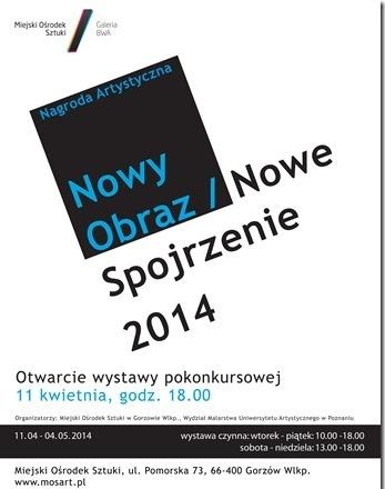 """Konkurs """"Nowy Obraz / Nowe Spojrzenie 2014"""" (źródło: materiały prasowe organizatora)"""
