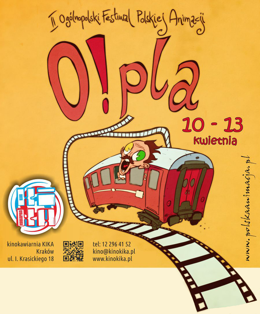 """II Ogólnopolski Festiwal Polskiej Animacji """"O!PLA"""", plakat (źródło: materiały prasowe)"""