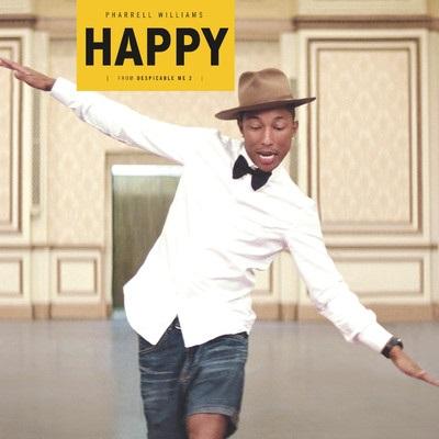 """Pharrell Williams """"Happy"""", okładka (źródło: Wikipedia, na podstawie licencji Creative Commons)"""