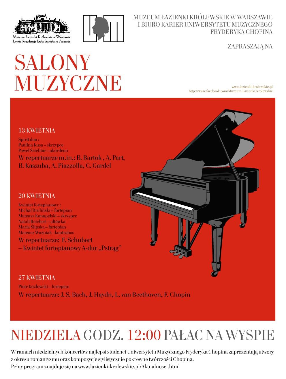 """""""Salony Muzyczne"""", plakat (źródło: materiały prasowe organizatora)"""