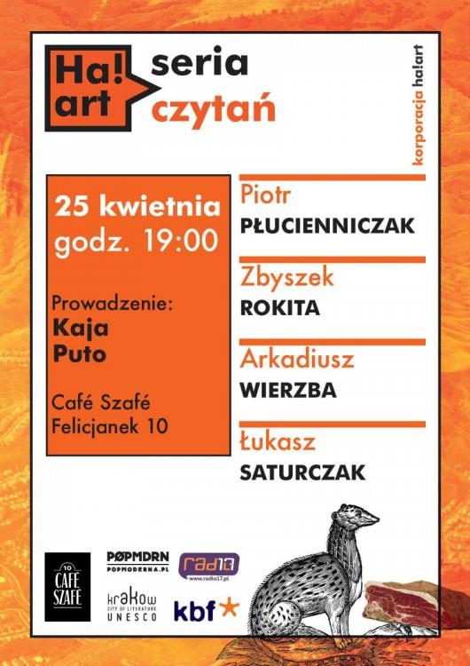 """""""Ha!art Seria Czytań"""" – plakat (źródło: materiały prasowe)"""