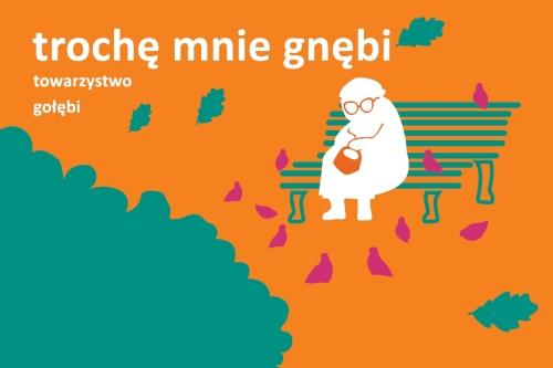 """Warsztaty """"Trochę mnie gnębi towarzystwo gołębi"""", plakat, Galeria Arsenał w Białymstoku (źródło: materiały prasowe organizatora)"""