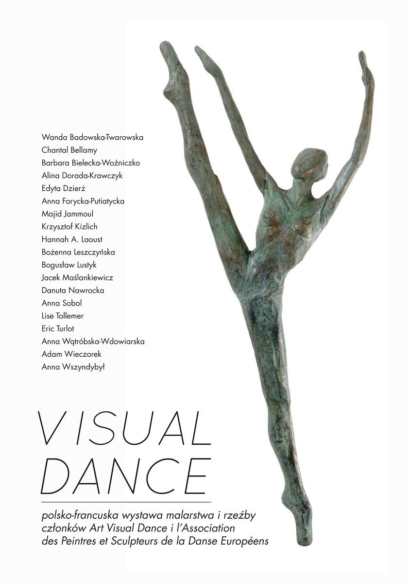 Visual Dance, zaproszenie na wystawę, Dom Artysty Plastyka w Warszawie (źródło: materiały prasowe organizatora)
