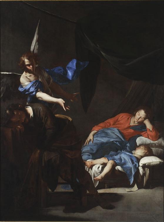"""Cavallino, Bernardo (1616 aut 1622-1654 aut 1656) (malarz); """"Sen św. Józefa""""; ok.1645; olej; płótno; MNW (źródło: materiały prasowe organizatora)"""