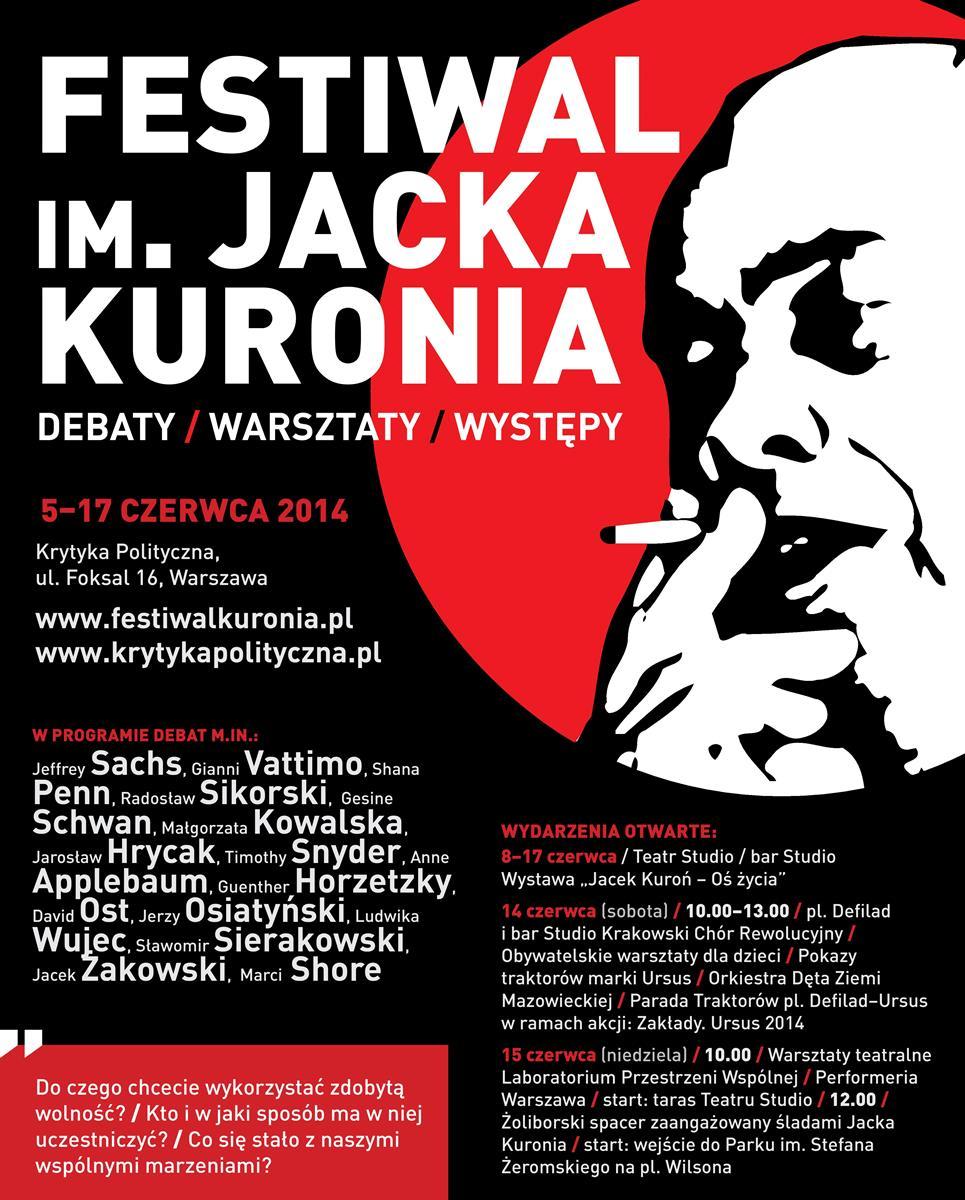 Festiwal Jacka Kuronia – plakat (źródło: materiały prasowe)