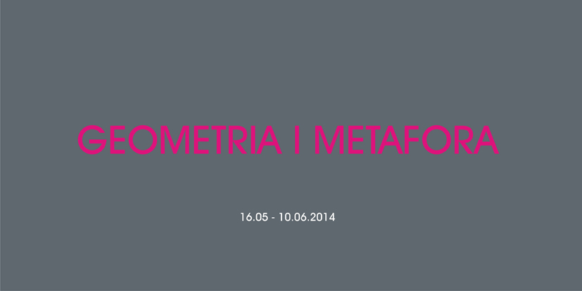 """""""Geometria i metafora w miniaturze"""", Galeria Sztuki Współczesnej BWA w Przemyślu, plakat (źródło: materiały prasowe organizatora)"""