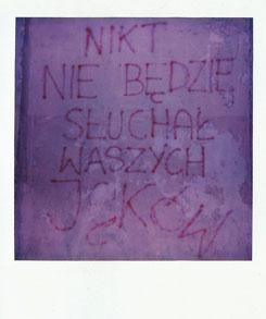 """Irena Kalicka, """"Bez Tytułu 1"""", z cyklu """"I Did Not Have Sexual Relations With That Woman"""", 2014. Polaroid © Irena Kalicka (źródło: materiały prasowe organizatora)"""