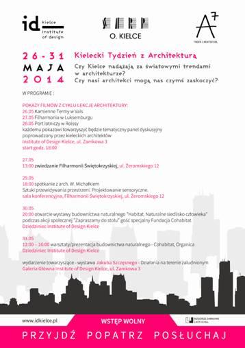 """""""Kielecki Tydzień z Architekturą"""", plakat (źródło: materiały prasowe)"""