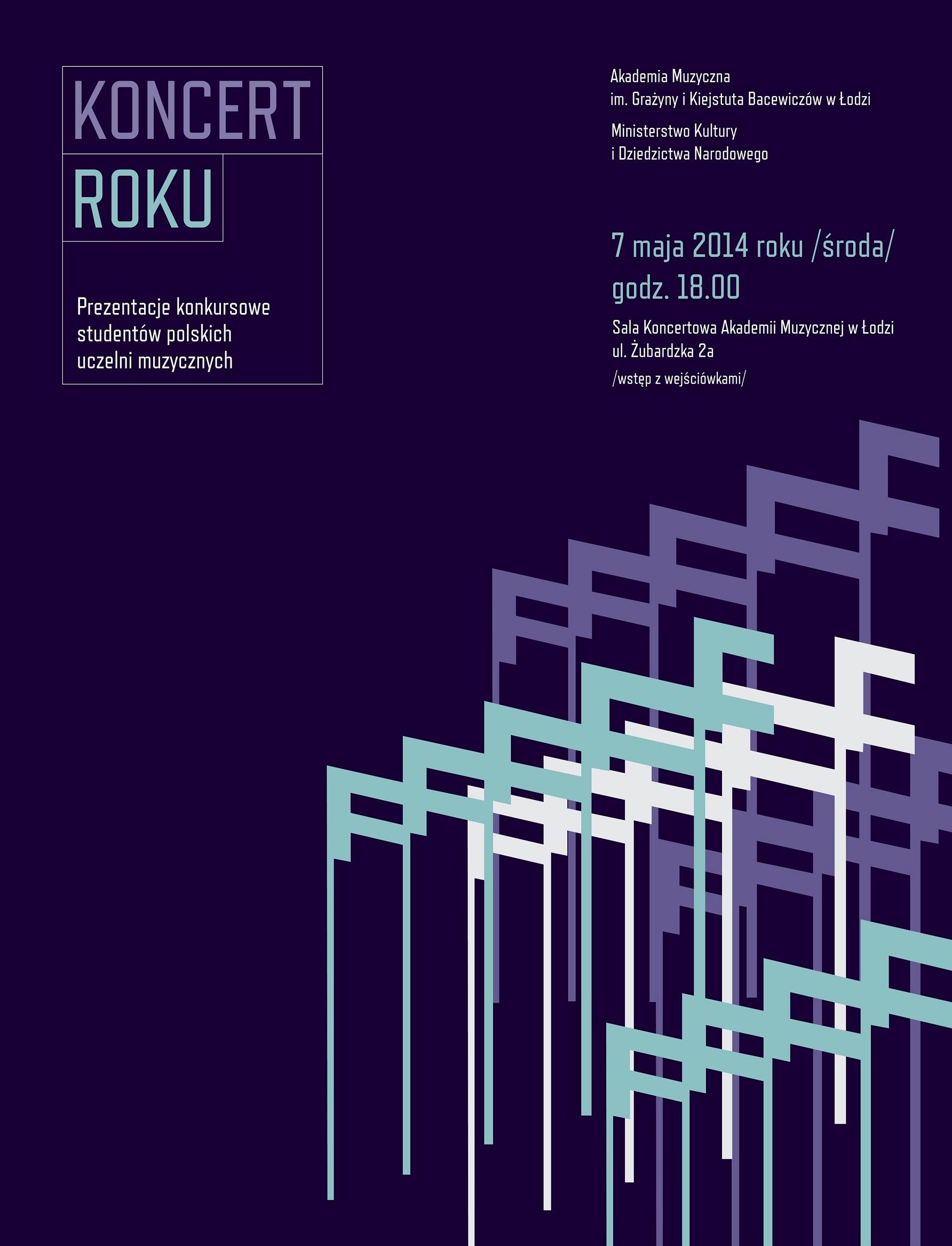 """""""Koncert roku"""", plakat (źródło: materiały prasowe organizatora)"""