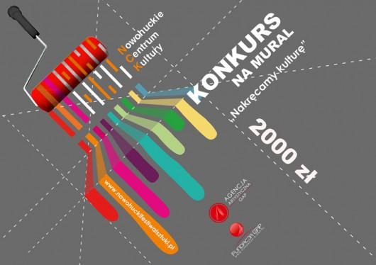 """Konkurs na mural artystyczny """"Nakręcamy kulturę"""", plakat (źródło: materiały prasowe)"""