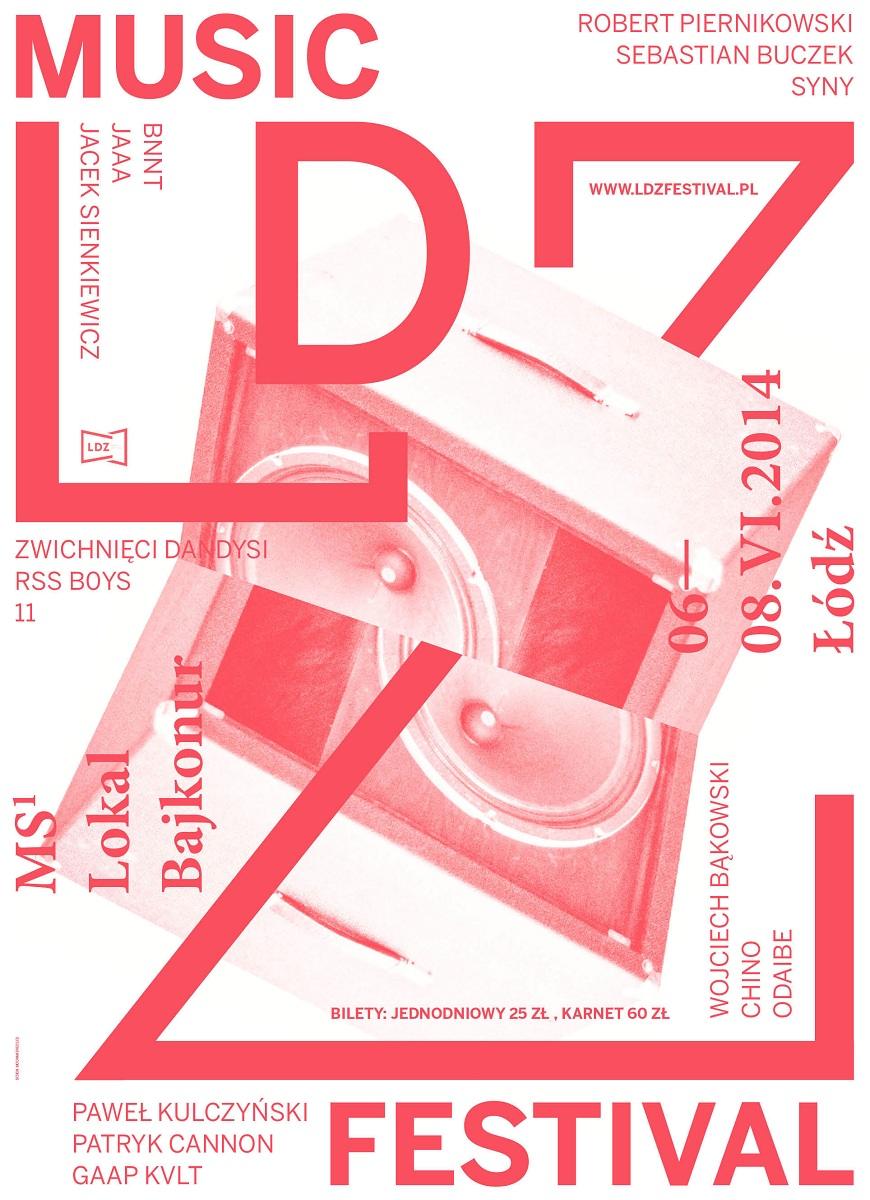 LDZ Music Festival, plakat (źródło: mat. prasowe)