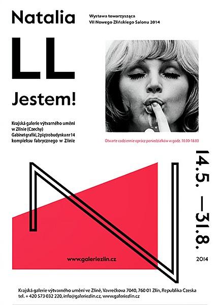 """Natalia LL, """"Jestem!"""", Krajská galerie výtvarného umění ve Zlíně, zaproszenie na wystawę (źródło: materiały prasowe organizatora)"""